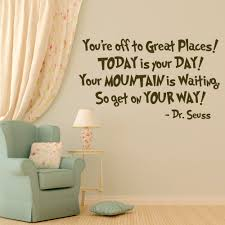 dr seuss vinyl wall decal quotation you u0027re off to great places