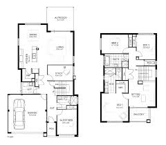 two apartment floor plans one house plans with basement two level house plans basement