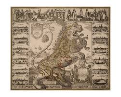 Map Of Holland Leo Hollandicus Map Of Holland 1648 Old Maps And Prints