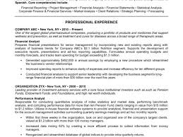 Resume Core Qualifications Examples by Good Example Of A Resume Sample Resume Template Free Resume