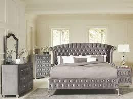 deanna grey velvet king platform bedroom set 20510ke savvy
