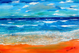 Shades Of Blue Paint by Thousands Shades Of Blues Demo Painting Sea Horizon Impressionist