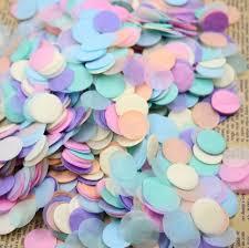 aliexpress buy 2 oz pack 0 7 inch pastel paper confetti