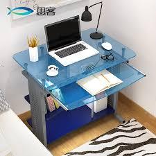Blue Computer Desk Best The Table Glass Computer Desk Desktop Minimalist Ikea