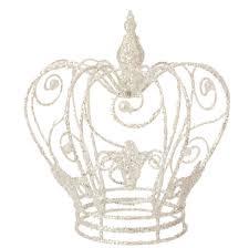 8 glittered crown ornament