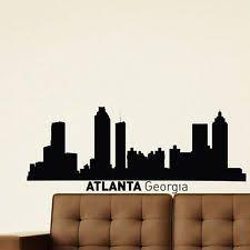 atlanta skyline atlanta skyline city skylines and paintings