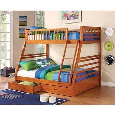 Coaster Ogletown Twin Over Full Wood Bunk Bed With Storage Honey - Twin over full wood bunk beds
