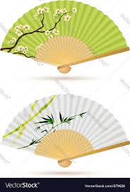 folding fans two japanese folding fans royalty free vector image