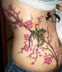 cherry blossom back tattoo designs page 7