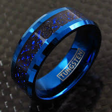 blue tungsten rings images Blue tungsten ring w black celtic dragon on blue inlay wholesale jpg