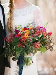 Bridesmaid Bouquet 15 Fall Wedding Bouquet Ideas And Which Flowers They U0027re Made With