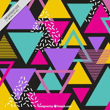 triangle pattern freepik background of colorful triangles in memphis style vector free download
