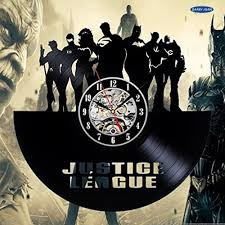 compare prices on justice league decal online shopping buy low justice league decal comics vinyl record wall clock decorate your home with modern art best gift for man woman boyfriend
