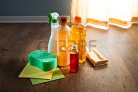 Wood Floor Cleaning Products Wood Floor Cleaner Products On Parquet With Sponges And Microfiber
