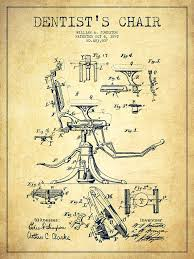 Vintage Dentist Chair Dentist Chair Patent Drawing From 1892 Vintage Digital Art By