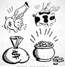 retro martini clip art digital retro collage of money sack piggy banks and coins