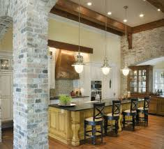wood beams kitchen kitchen traditional with pendant lights carved