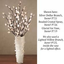 pre lit branches decorating beautiful lighted branches for home accessories ideas