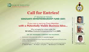 apply for 2nd edition bank of industry n2 million loan for nysc