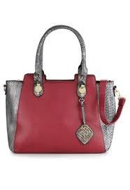 Tas Huer Original wanita tas bag miffa color blocking snake print tote bag