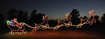 small outdoor santa sleigh and reindeer set holidaylights