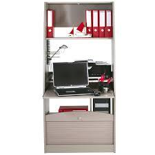 bureau secr騁aire informatique colonne informatique à rideau taupe taille l info univers du bureau