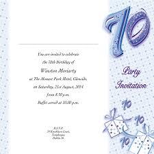 occasion card 70 1w 70th birthday wedding invitations