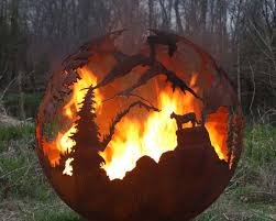 Metal Firepit Steel Pit Designs Balls Are Custom Made