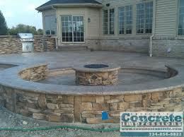 Concrete Decks And Patios Cousino U0027s Concrete Impressions Fire Pits Concrete Patios Decks