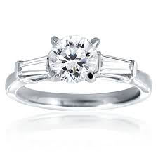 engagement rings with baguettes mazal brilliant cut engagement ring with 2 baguettes