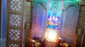 home mandir decoration my home ganesh ganpati decoration 2015 pravin kage pune youtube