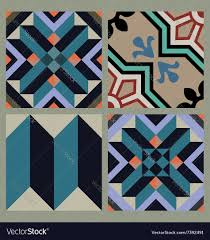 hydraulic vintage cement tiles royalty free vector image