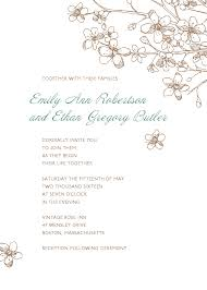 email wedding invitations apple blossom wedding invitation