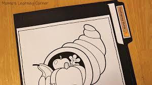 file folder word wall thanksgiving mamas learning corner
