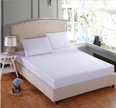 100 cotton white bed sheet twin full queen king fitted