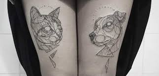 tattoo animal line amazing minimalist linear tattoos by nouvelle rita