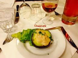 avocat cuisine avocat sauce crevettes picture of le bouillon chartier