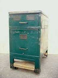 Vintage Metal File Cabinet Casters For File Cabinets Vintage File Drawer Unit On Casters