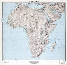 Terrain Map Large Old Terrain Map Of Africa U2013 1959 Vidiani Com Maps Of All