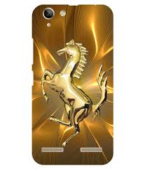golden ferrari dot print golden ferrari printed back cover for lenovo vibe k5
