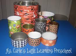 halloween tin cans ms carlie u0027s little learners preschool october 2011