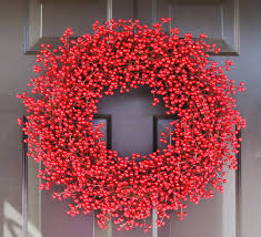 winter wedding wreath berry wreath red christmas wreath