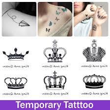 temporary crown design tatoo for waterproof