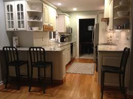galley kitchen with peninsula neptune nj design line kitchens