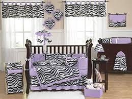 Purple Bedding For Cribs Sweet Jojo Designs 9 Purple And Funky Zebra
