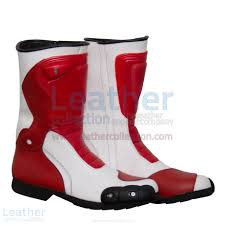 Buy Now Marco Simoncelli Motorbike Riding Boots At Leather Collection