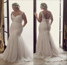 new simple plus size mermaid wedding dresses dont struggle to fit