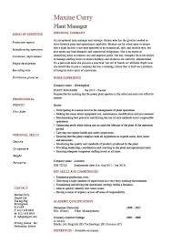 Job Description In Resume by Stunning Plant Supervisor Resume 75 In Resume Template Microsoft