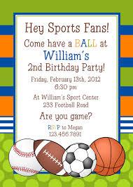 Sample Of Birthday Invitation Card For Kids Sports Birthday Invitations U2013 Gangcraft Net