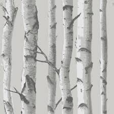 Stick And Peel Wallpaper by Shop Brewster Wallcovering Peel And Stick Grey Vinyl Scenic